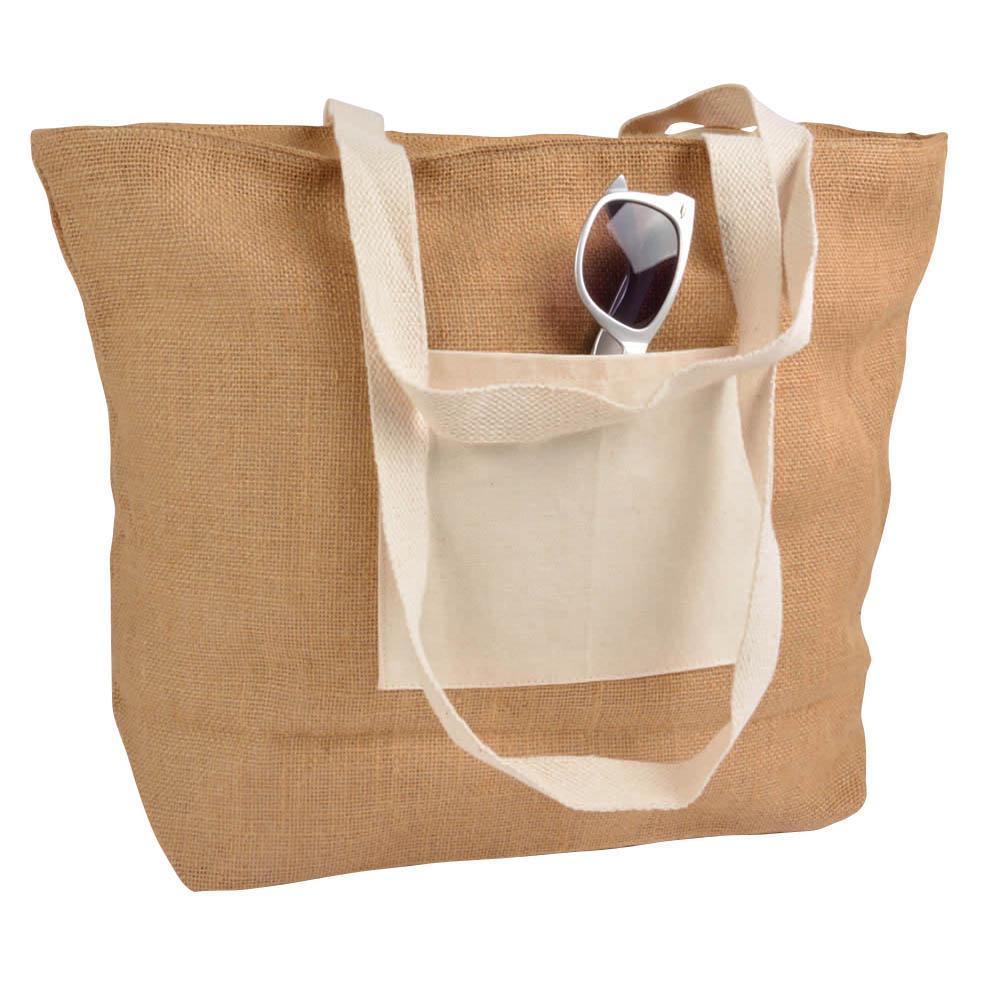 Zipped Jute Bag 09149